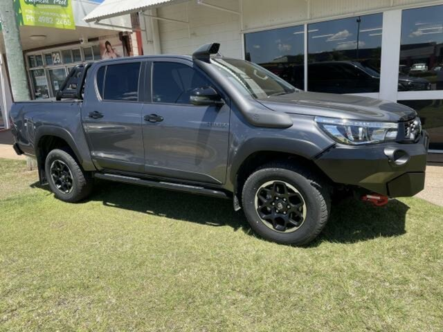 Used Toyota Hilux GUN126R MY19 Rugged X (4x4) Emerald, 2018 Toyota Hilux GUN126R MY19 Rugged X (4x4) Graphite 6 Speed Automatic Double Cab Pick Up