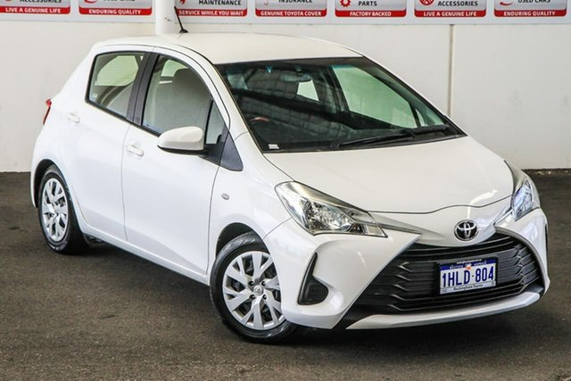 Pre-Owned Toyota Yaris NCP130R MY18 Ascent Rockingham, 2018 Toyota Yaris NCP130R MY18 Ascent Glacier White 4 Speed Automatic Hatchback