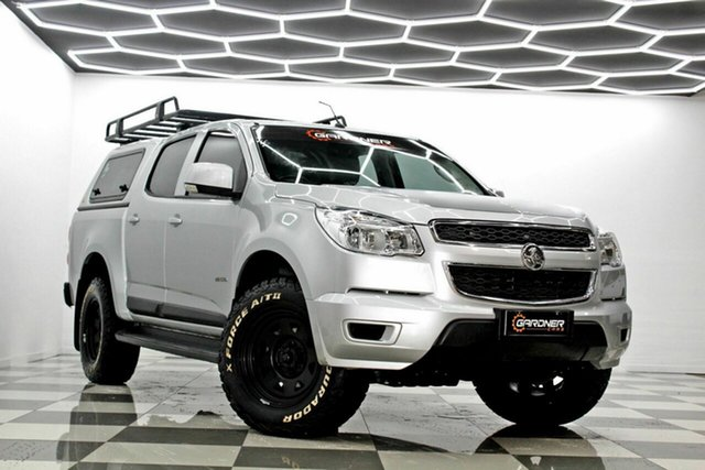 Used Holden Colorado RG MY15 LS (4x2) Burleigh Heads, 2014 Holden Colorado RG MY15 LS (4x2) Silver 6 Speed Automatic Crew Cab Chassis