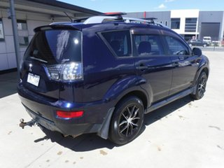 2009 Mitsubishi Outlander ZH MY10 LS Blue 6 Speed Constant Variable Wagon.