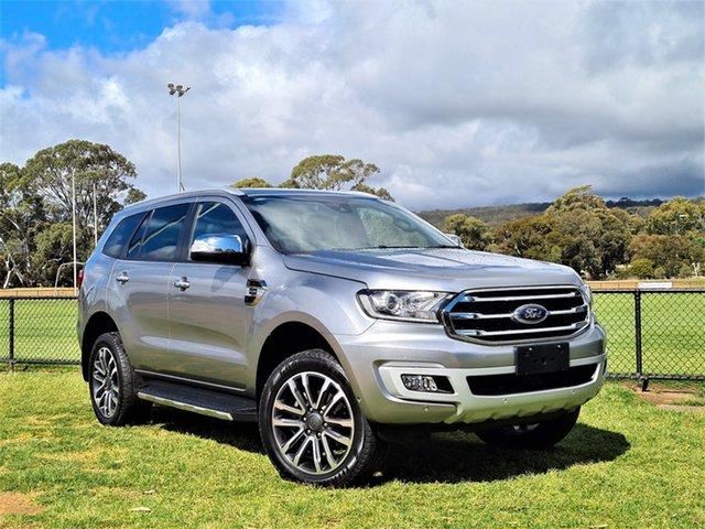 Used Ford Everest UA II 2019.00MY Titanium St Marys, 2019 Ford Everest UA II 2019.00MY Titanium Silver 10 Speed Sports Automatic SUV