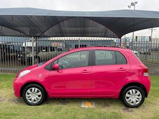 2011 Toyota Yaris NCP90R 10 Upgrade YR Pink 5 Speed Manual Hatchback.