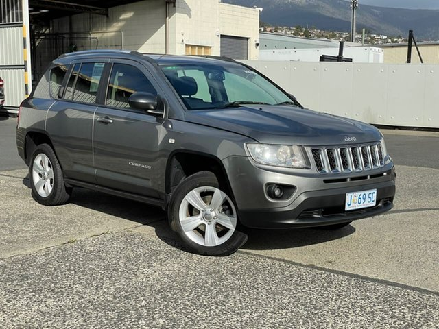 Used Jeep Compass MK MY12 Sport CVT Auto Stick Hobart, 2012 Jeep Compass MK MY12 Sport CVT Auto Stick Grey 6 Speed Constant Variable Wagon