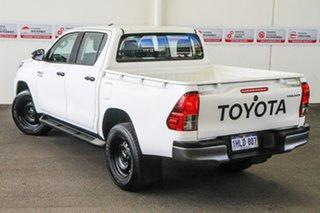 2020 Toyota Hilux GUN126R SR Double Cab Glacier White 6 Speed Sports Automatic Utility.
