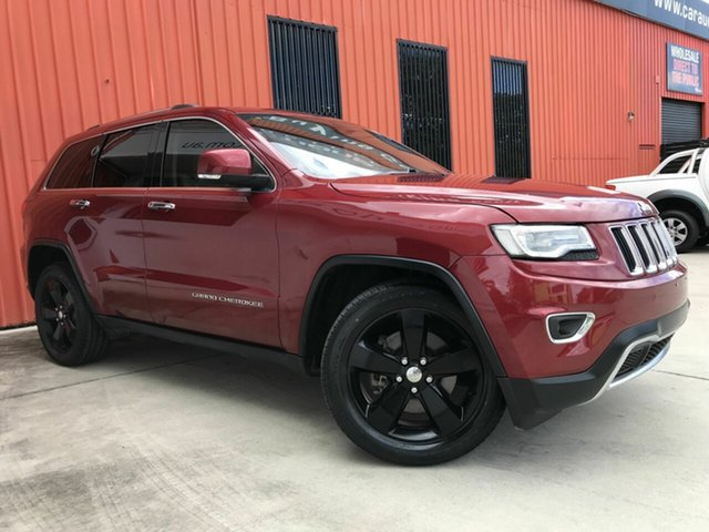 Used Jeep Grand Cherokee WK MY15 Limited Molendinar, 2016 Jeep Grand Cherokee WK MY15 Limited Red 8 Speed Sports Automatic Wagon