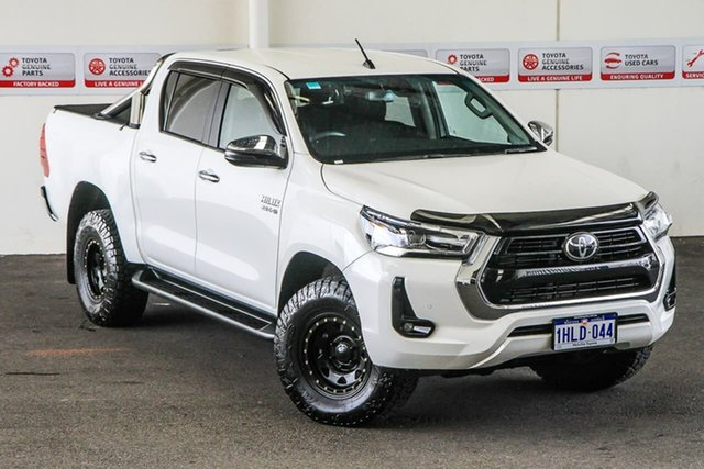 Pre-Owned Toyota Hilux GUN126R SR5 Double Cab Myaree, 2020 Toyota Hilux GUN126R SR5 Double Cab Glacier White 6 Speed Sports Automatic Utility