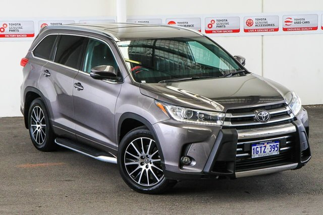 Pre-Owned Toyota Kluger GSU55R Grande AWD Rockingham, 2018 Toyota Kluger GSU55R Grande AWD Predawn Grey 8 Speed Sports Automatic Wagon