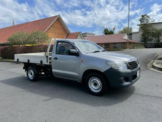 2015 Toyota Hilux TGN16R Workmate Silver 5 Speed Manual Single Cab.