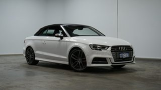 2017 Audi S3 8V MY18 S Tronic Quattro Ibis White 7 Speed Sports Automatic Dual Clutch Cabriolet.