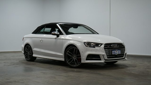 Used Audi S3 8V MY18 S Tronic Quattro Welshpool, 2017 Audi S3 8V MY18 S Tronic Quattro Ibis White 7 Speed Sports Automatic Dual Clutch Cabriolet