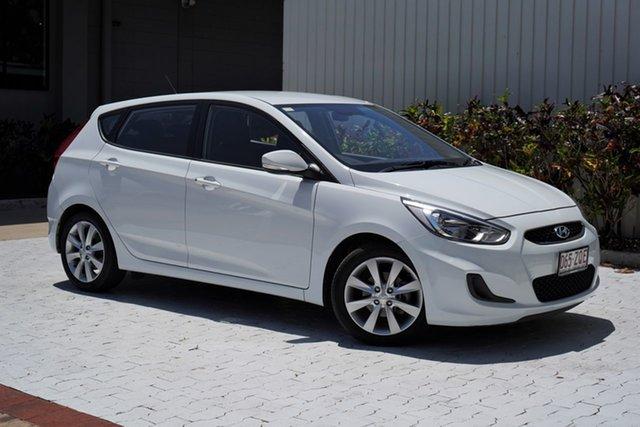 Used Hyundai Accent RB6 MY18 Sport Cairns, 2018 Hyundai Accent RB6 MY18 Sport White 6 Speed Sports Automatic Hatchback