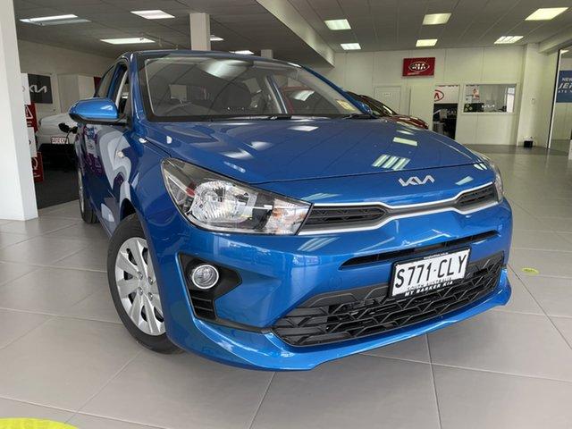 Demo Kia Rio YB MY22 S Mount Barker, 2021 Kia Rio YB MY22 S Sporty Blue 6 Speed Automatic Hatchback