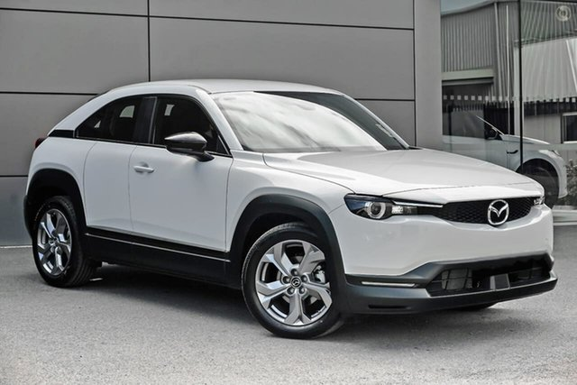 Demo Mazda MX-30 DR2W7A G20e SKYACTIV-Drive Evolve Waitara, 2021 Mazda MX-30 DR2W7A G20e SKYACTIV-Drive Evolve White 6 Speed Sports Automatic Wagon