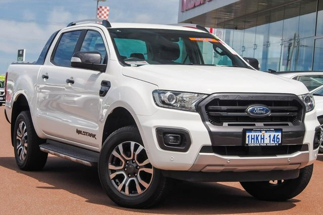 Used Ford Ranger PX MkIII 2019.75MY Wildtrak Osborne Park, 2019 Ford Ranger PX MkIII 2019.75MY Wildtrak White 10 Speed Sports Automatic Double Cab Pick Up