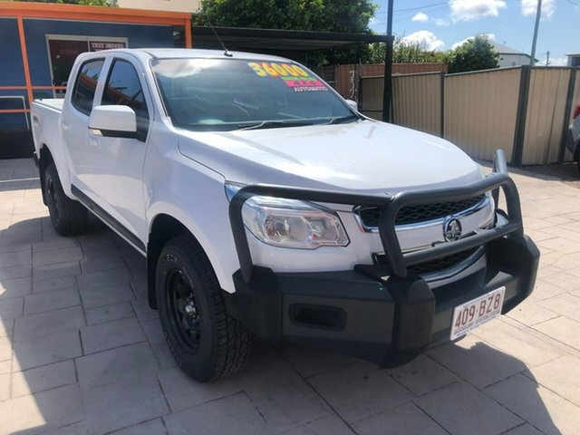 Used Holden Colorado RG MY16 LS Crew Cab Mundingburra, 2016 Holden Colorado RG MY16 LS Crew Cab White 6 Speed Sports Automatic Utility