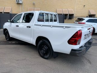 2021 Toyota Hilux TGN121R Workmate Double Cab 4x2 Glacier White 6 Speed Sports Automatic Utility