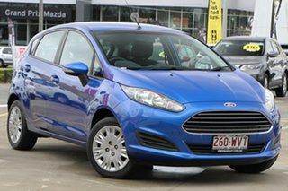 2016 Ford Fiesta WZ Ambiente PwrShift Blue 6 Speed Sports Automatic Dual Clutch Hatchback.