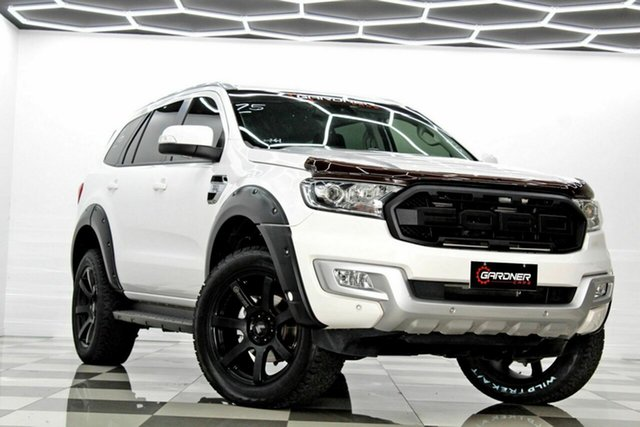 Used Ford Everest UA MY18 Trend (4WD) (5 Yr) Burleigh Heads, 2018 Ford Everest UA MY18 Trend (4WD) (5 Yr) White 6 Speed Automatic SUV