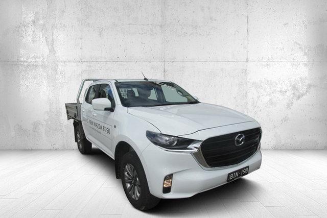 Used Mazda BT-50 TFS40J XT Bendigo, 2020 Mazda BT-50 TFS40J XT White 6 Speed Sports Automatic Cab Chassis