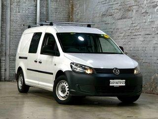 2014 Volkswagen Caddy 2KN MY14 TDI250 BlueMOTION Maxi White 5 Speed Manual Van.
