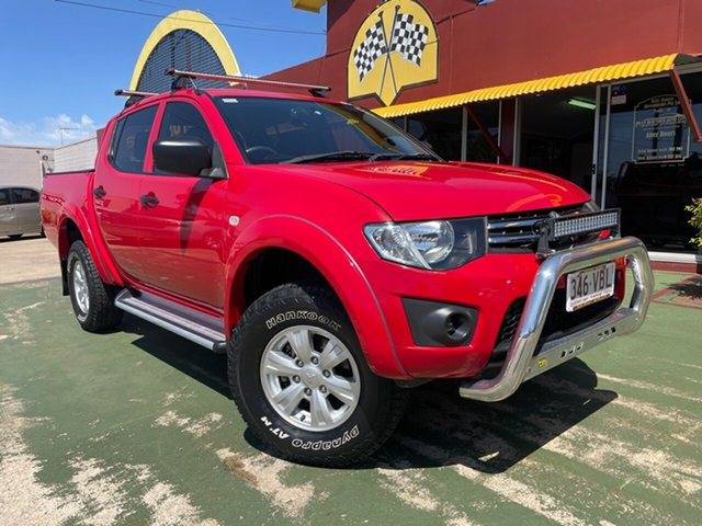 Used Mitsubishi Triton MN MY15 GLX Double Cab Toowoomba, 2014 Mitsubishi Triton MN MY15 GLX Double Cab Red 5 Speed Manual Utility
