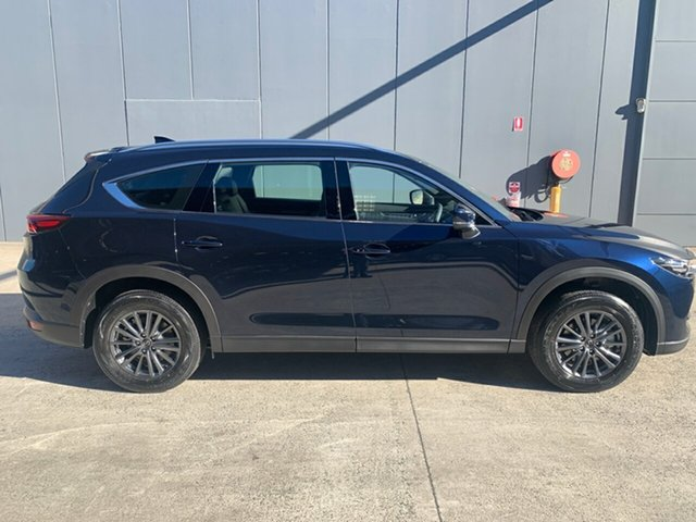New Mazda CX-8 KG2WLA Touring SKYACTIV-Drive FWD Alexandria, 2021 Mazda CX-8 KG2WLA Touring SKYACTIV-Drive FWD Deep Crystal Blue 6 Speed Sports Automatic Wagon