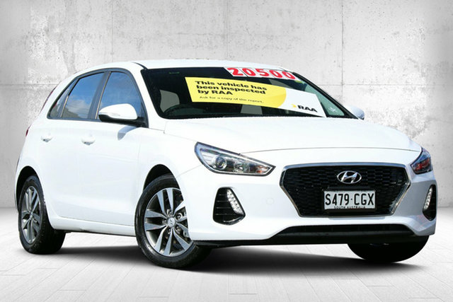 Used Hyundai i30 PD2 MY18 Active Valley View, 2018 Hyundai i30 PD2 MY18 Active White 6 Speed Sports Automatic Hatchback