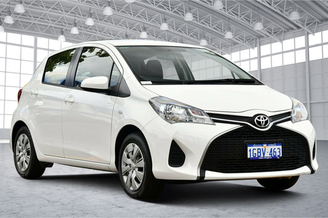 Used Toyota Yaris NCP130R Ascent Victoria Park, 2016 Toyota Yaris NCP130R Ascent White 5 Speed Manual Hatchback