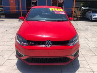 2017 Volkswagen Polo 6R MY17 GTI DSG Red 7 Speed Sports Automatic Dual Clutch Hatchback.
