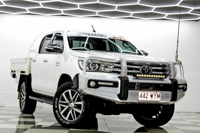 Used Toyota Hilux GUN126R SR5 (4x4) Burleigh Heads, 2016 Toyota Hilux GUN126R SR5 (4x4) White 6 Speed Automatic Dual Cab Utility