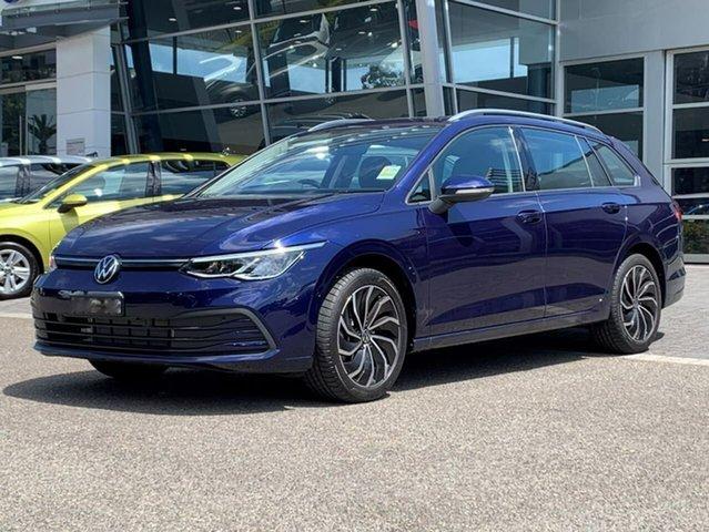 Demo Volkswagen Golf 8 MY21 110TSI Life Botany, 2021 Volkswagen Golf 8 MY21 110TSI Life Blue 8 Speed Sports Automatic Wagon