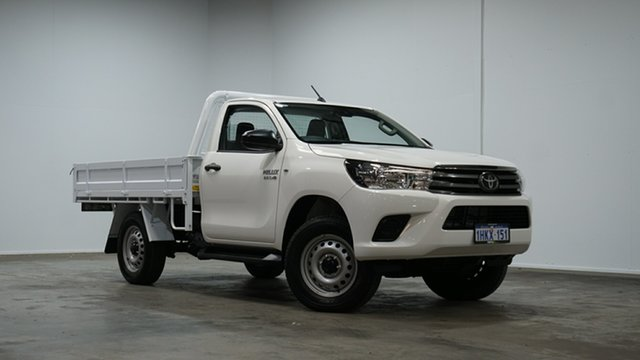 Used Toyota Hilux GUN126R SR Welshpool, 2021 Toyota Hilux GUN126R SR White 6 Speed Sports Automatic Cab Chassis
