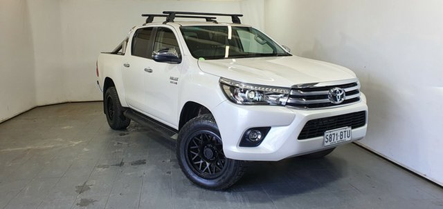 Used Toyota Hilux GUN126R SR5 Double Cab Elizabeth, 2017 Toyota Hilux GUN126R SR5 Double Cab White 6 Speed Sports Automatic Utility