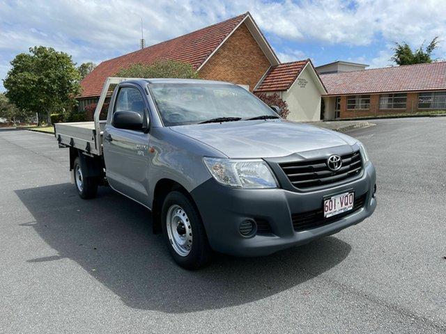 Used Toyota Hilux TGN16R Workmate Chermside, 2015 Toyota Hilux TGN16R Workmate Silver 5 Speed Manual Single Cab