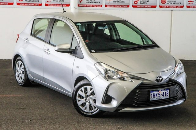 Pre-Owned Toyota Yaris NCP130R Ascent Myaree, 2019 Toyota Yaris NCP130R Ascent Silver Pearl 4 Speed Automatic Hatchback