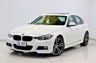2016 BMW 3 Series F30 LCI 330i Luxury Line White 8 Speed Sports Automatic Sedan.