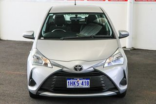 2019 Toyota Yaris NCP130R Ascent Silver Pearl 4 Speed Automatic Hatchback