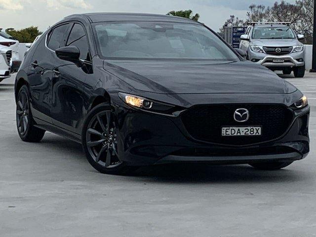 Used Mazda 3 BP2HLA G25 SKYACTIV-Drive GT Liverpool, 2019 Mazda 3 BP2HLA G25 SKYACTIV-Drive GT Black 6 Speed Sports Automatic Hatchback