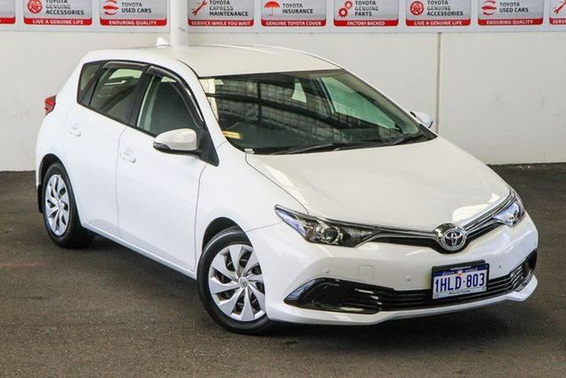 Pre-Owned Toyota Corolla ZRE182R MY17 Ascent Myaree, 2018 Toyota Corolla ZRE182R MY17 Ascent Glacier White 7 Speed CVT Auto Sequential Hatchback