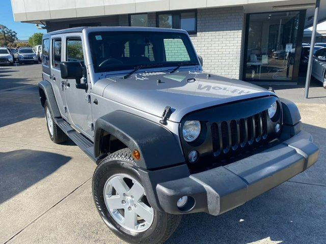 Used Jeep Wrangler JK MY18 Unlimited Sport Hillcrest, 2018 Jeep Wrangler JK MY18 Unlimited Sport Silver 5 Speed Automatic Softtop