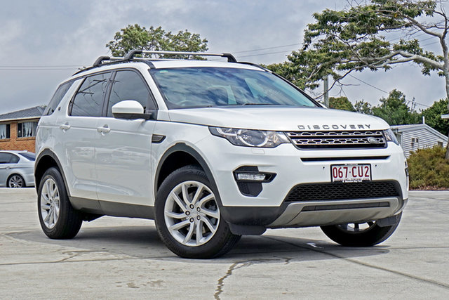 Used Land Rover Discovery Sport L550 17MY TD4 150 SE Capalaba, 2017 Land Rover Discovery Sport L550 17MY TD4 150 SE Polaris White 9 Speed Sports Automatic Wagon