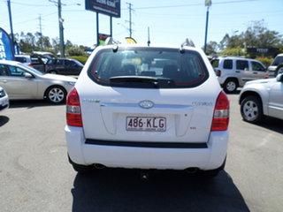2007 Hyundai Tucson White Automatic Wagon.