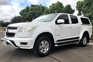 2013 Holden Colorado RG MY13 LT Crew Cab 4x2 White 6 Speed Sports Automatic Utility.