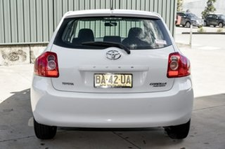2009 Toyota Corolla ZRE152R Ascent White 4 Speed Automatic Hatchback
