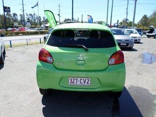 2014 Mitsubishi Mirage Green Automatic Hatchback.