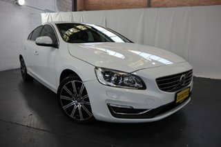 2016 Volvo S60 F Series MY16 T4 Adap Geartronic Luxury White 6 Speed Sports Automatic Sedan.