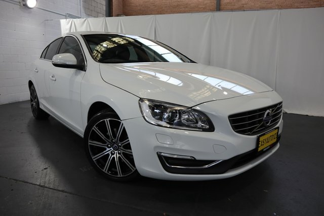 Used Volvo S60 F Series MY16 T4 Adap Geartronic Luxury Castle Hill, 2016 Volvo S60 F Series MY16 T4 Adap Geartronic Luxury White 6 Speed Sports Automatic Sedan