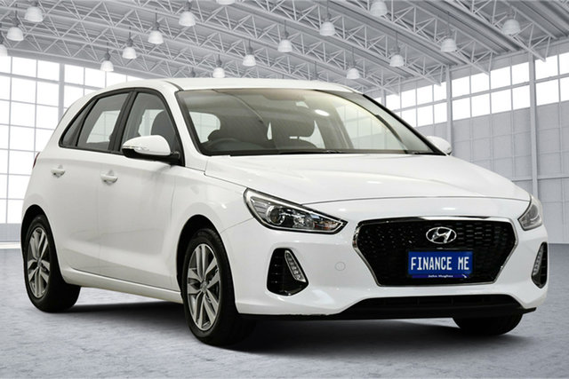 Used Hyundai i30 PD2 MY19 Active Victoria Park, 2019 Hyundai i30 PD2 MY19 Active White 6 Speed Sports Automatic Hatchback