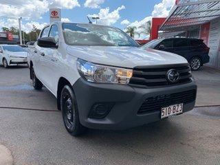 2021 Toyota Hilux TGN121R Workmate Double Cab 4x2 Glacier White 6 Speed Sports Automatic Utility.