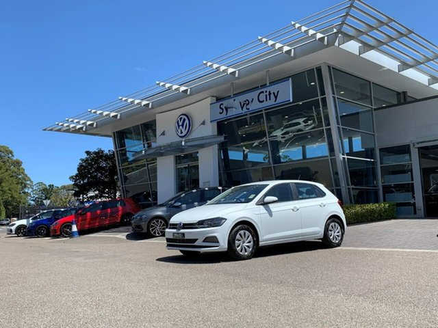 Demo Volkswagen Polo AW MY21 70TSI DSG Trendline Botany, 2021 Volkswagen Polo AW MY21 70TSI DSG Trendline White 7 Speed Sports Automatic Dual Clutch